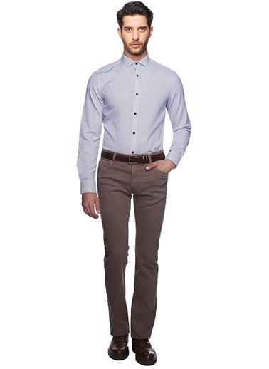 Desenli Slim Fit Gömlek-Altınyıldız Classics